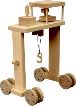 Wooden Toy - Port Crane