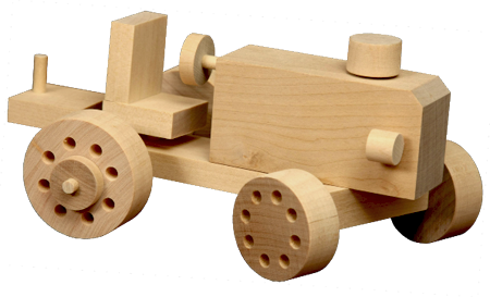 Wooden Toy - Tractor 1